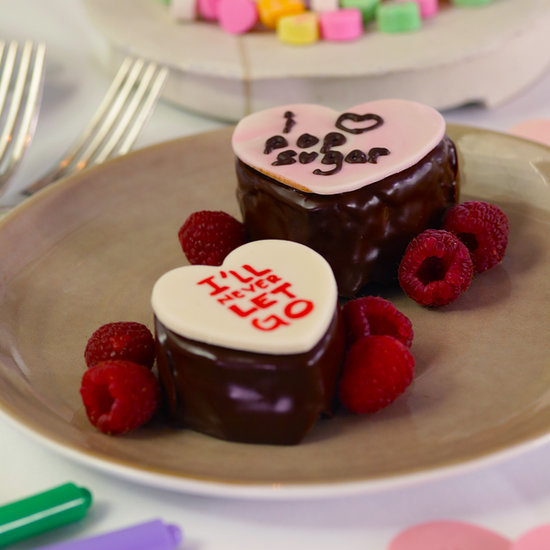 Conversation Heart Chocolate Cakes Recipe