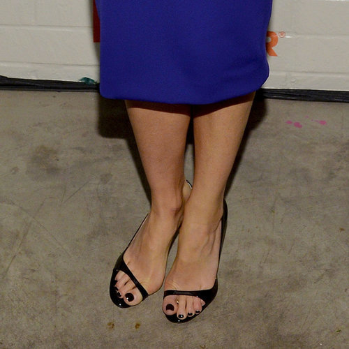 Distinguished detail: the barely there toe strap.
