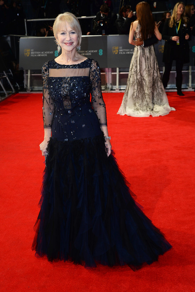 Helen Mirren on the 2014 BAFTA Red Carpet