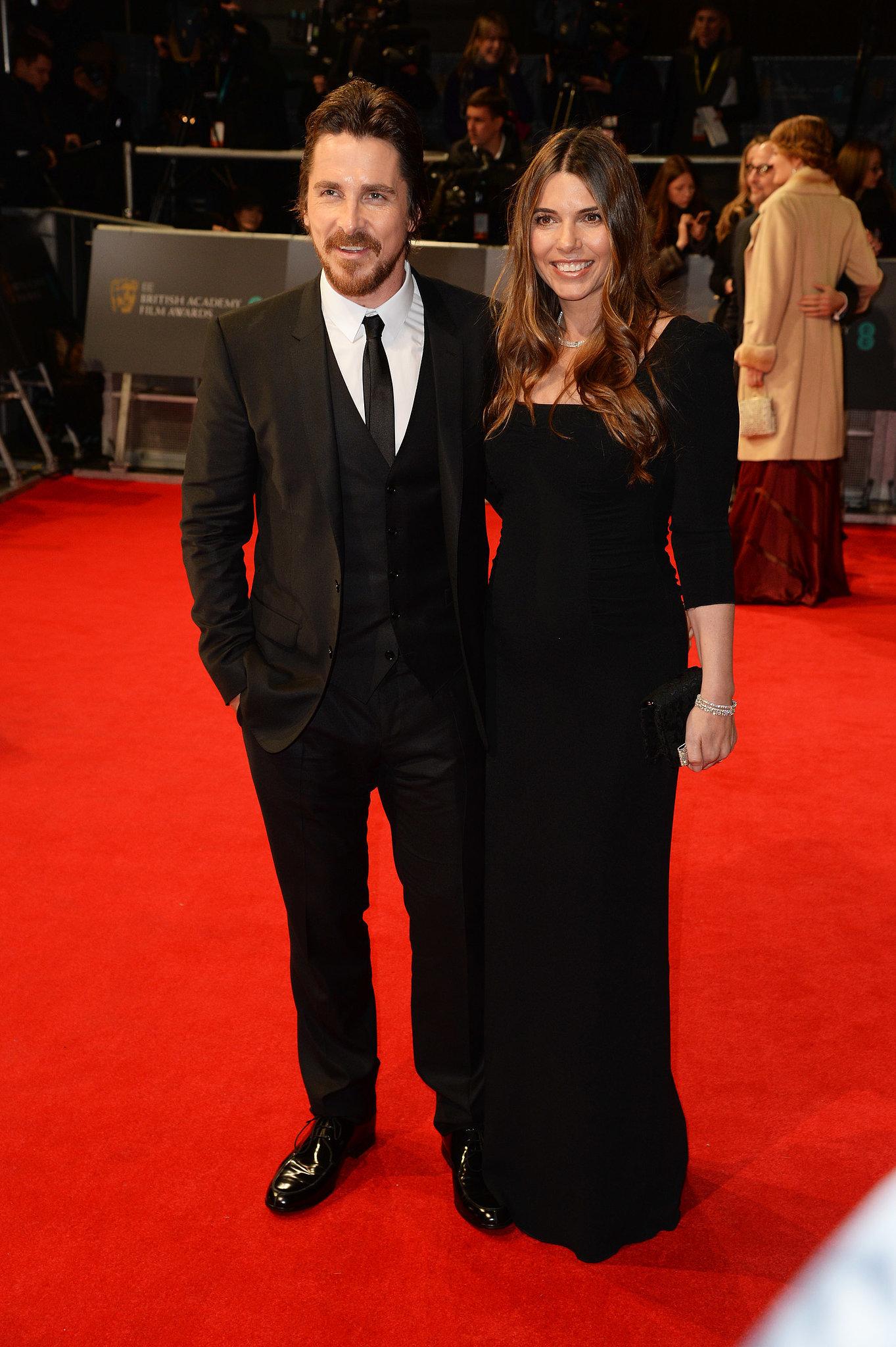 Christian Bale and Sibi Blazic at the 2014 BAFTA Awards.