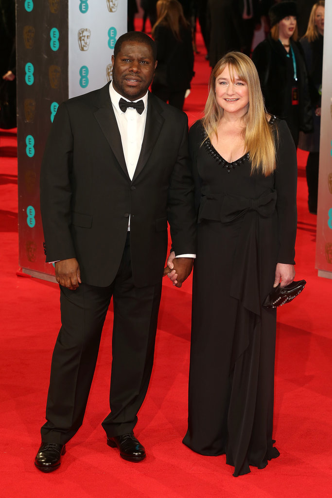 Steve McQueen and Bianca Stigter at the 2014 BAFTA Awards.