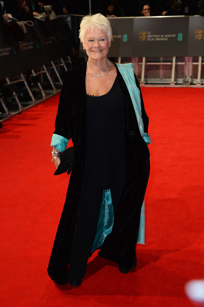 Judi Dench at the 2014 BAFTA Awards.