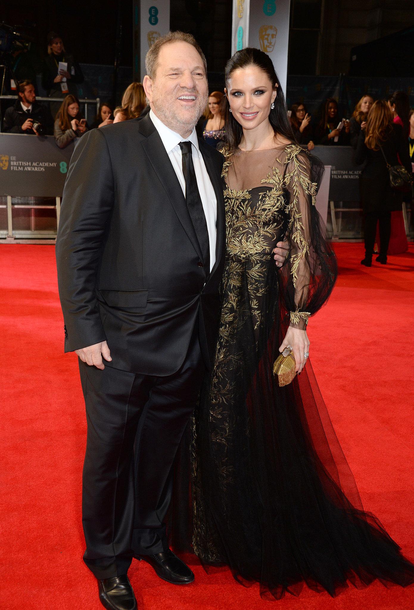 Harvey Weinstein and Georgina Chapman at the 2014 BAFTA Awards.