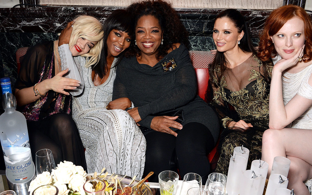 Rita Ora, Naomi Campbell, Georgina Chapman, and Karen Elson mingled with Oprah at Harvey Weinstein's celebration.