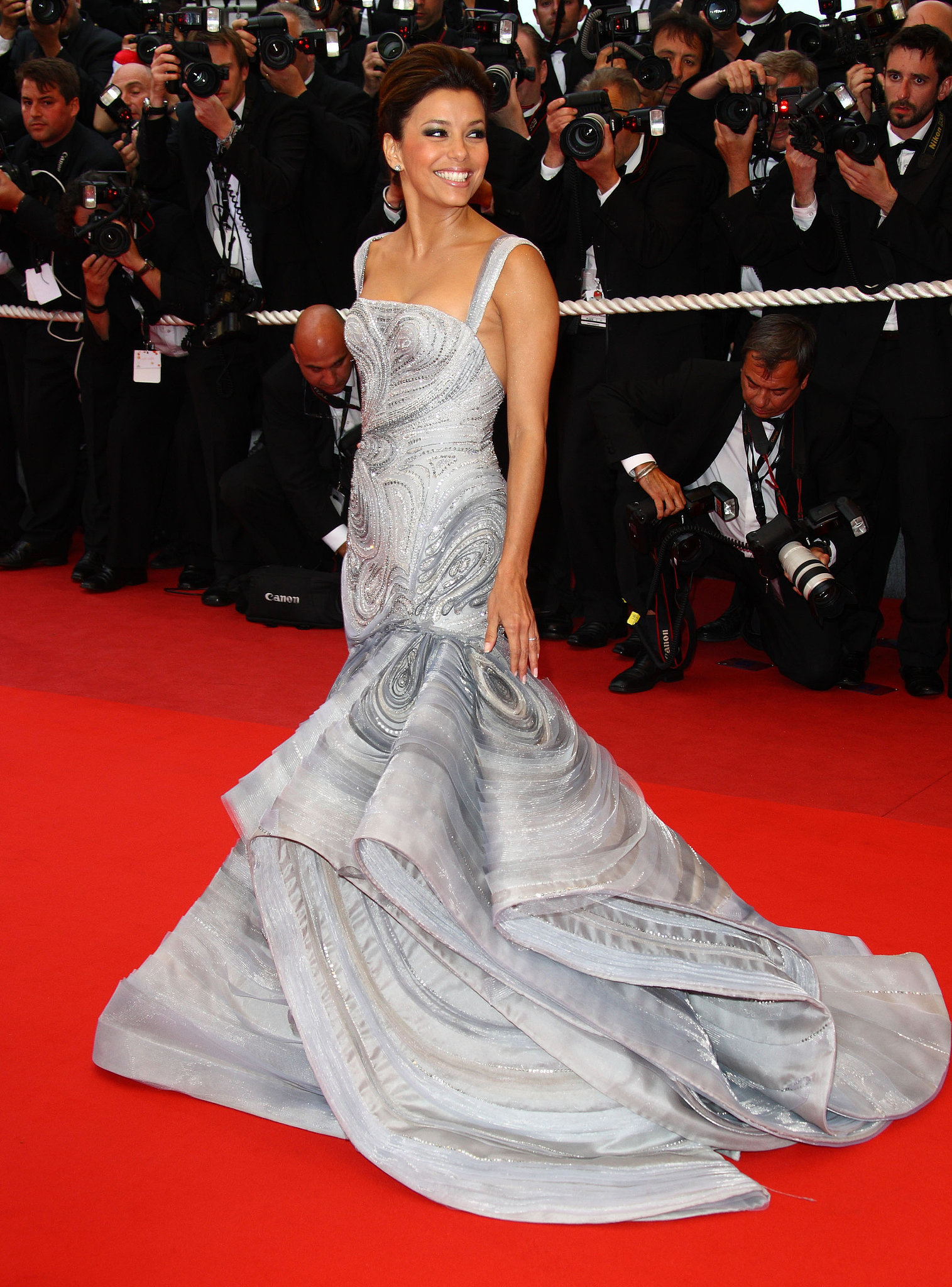 Eva Longoria in Versace at the Cannes International Film Festival
