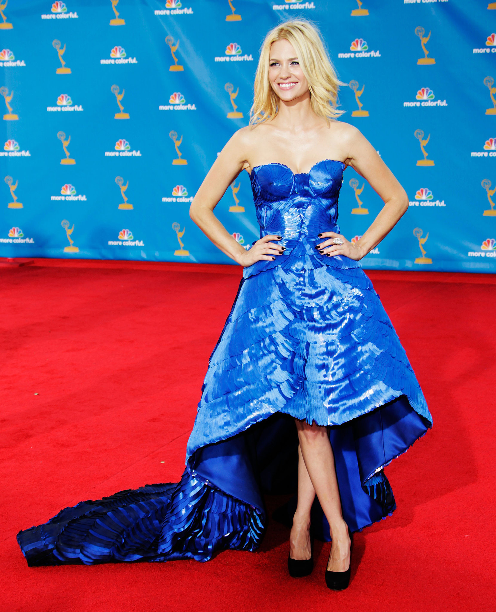 January Jones in Versace at the Emmys