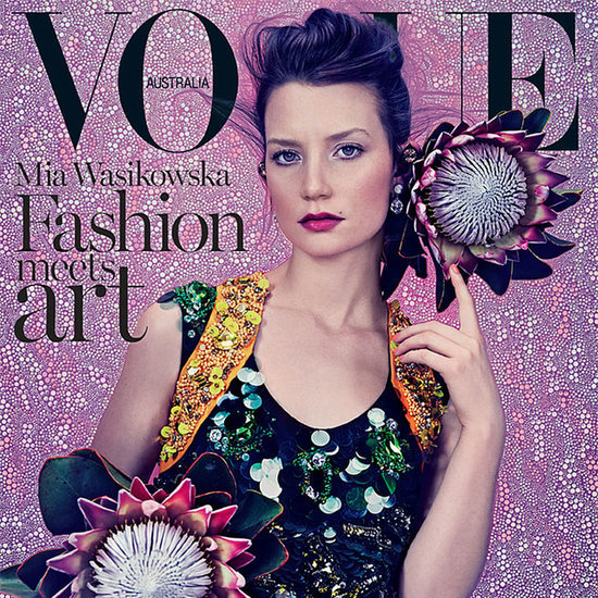 Mia Wasikowska's Beauty Look on Vogue Australia March Cover