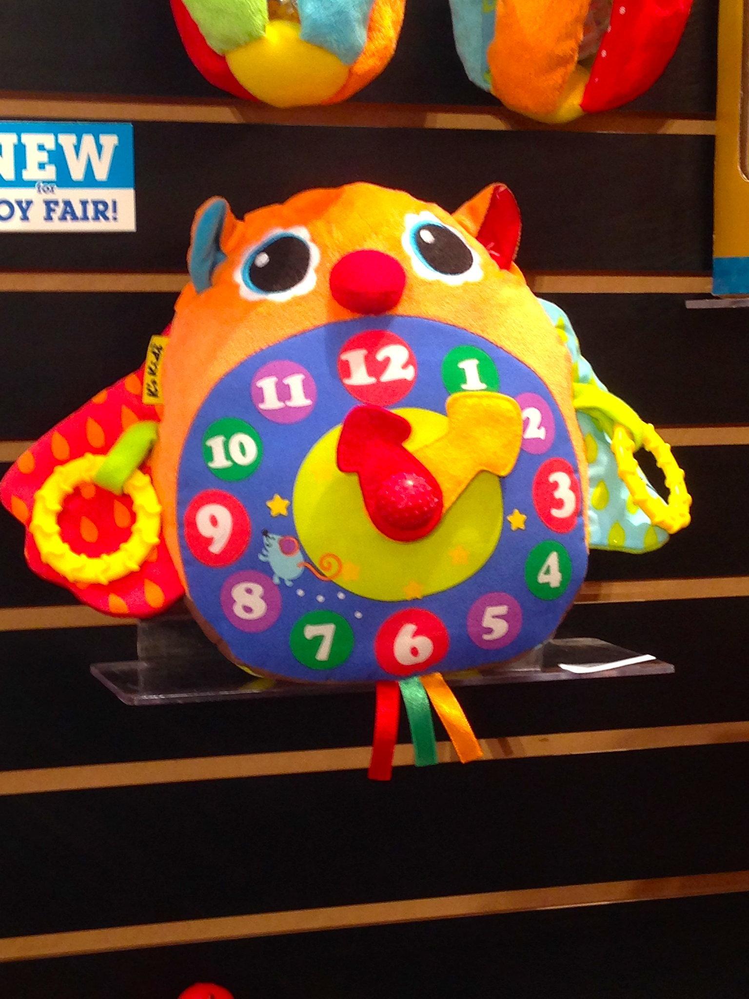K's Kids Plush Owl Clock