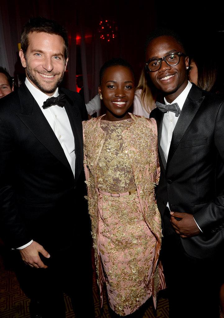 Bradley Cooper posed for photos with Lupita and her little brother, Peter, at the Palm Springs Film Festival.