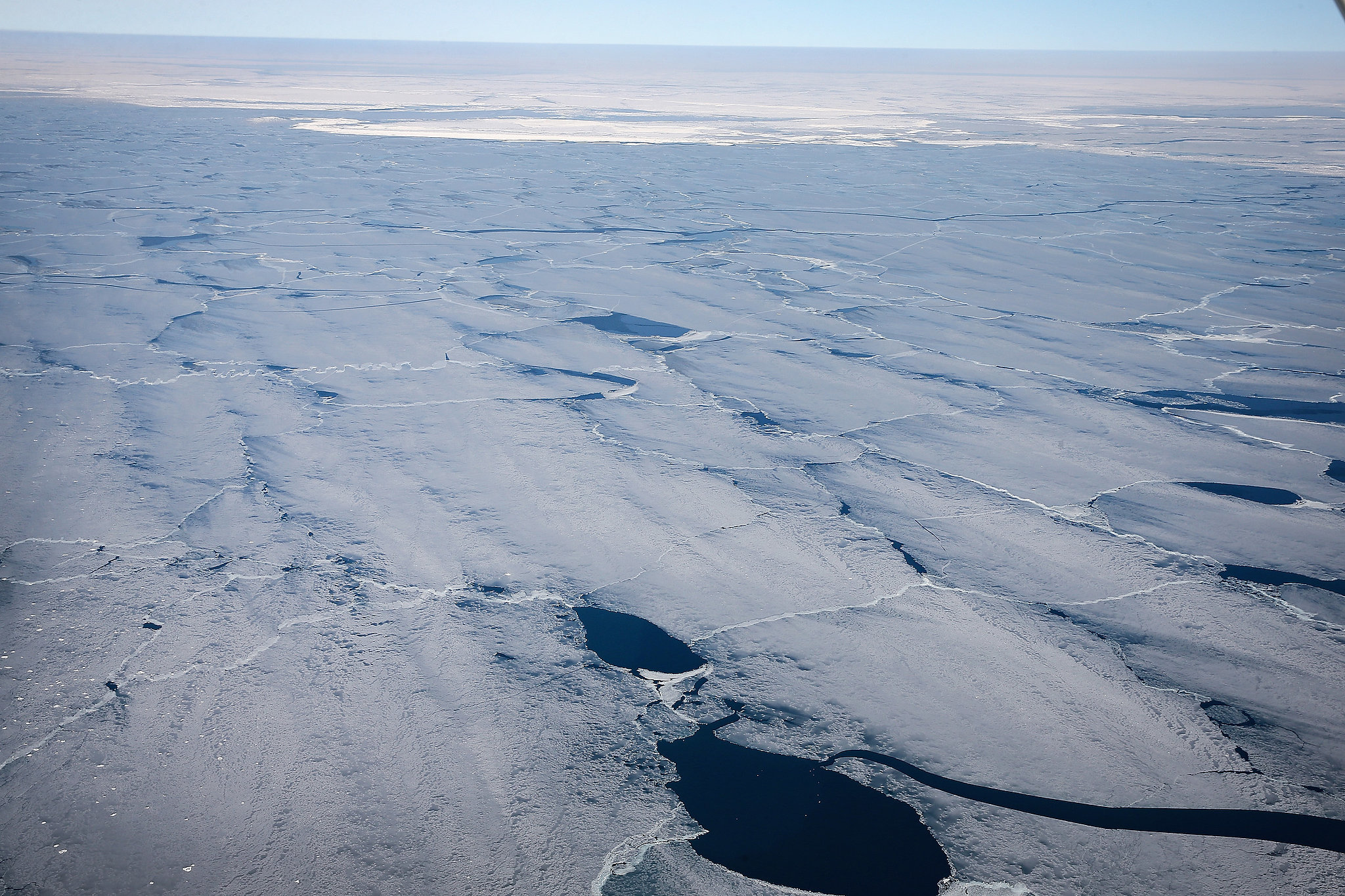 More than 80 percent of Lake Michigan is covered in ice.
