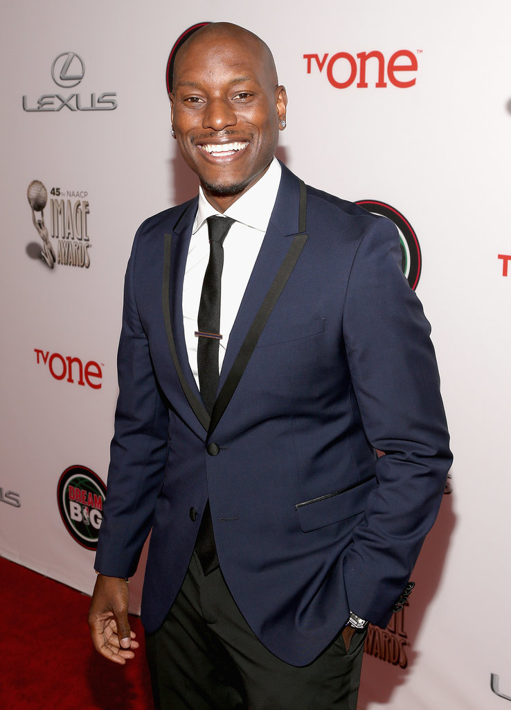 Tyrese Gibson suited up for the show.