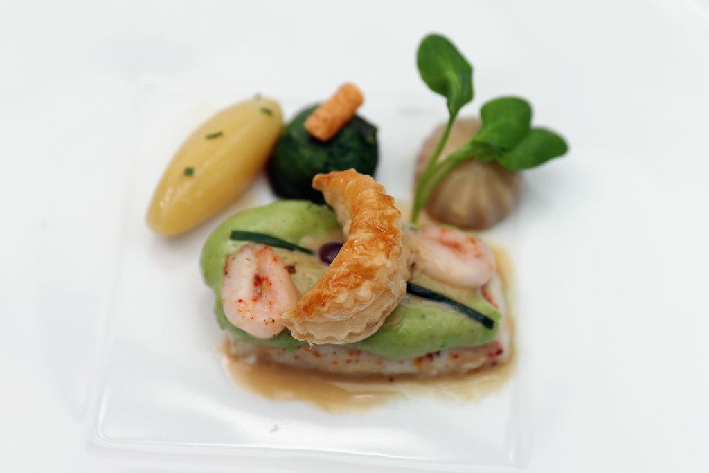 Slow Baked Halibut Bonne Femme With Sweet Maine Shrimp