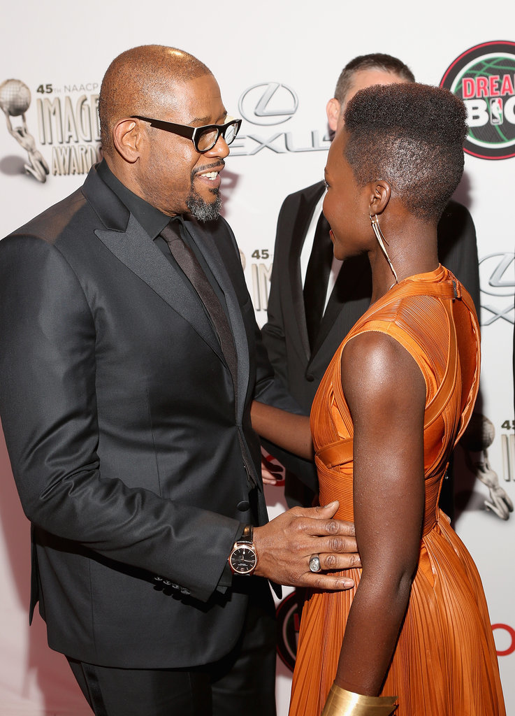 Forest Whitaker was super excited to see her.