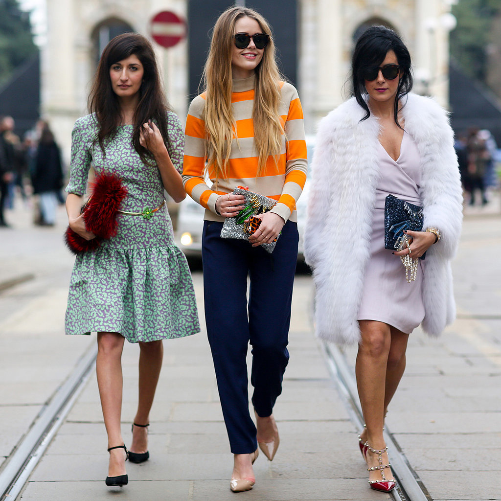 Best Street Style Photos Milan Fashion Week Autumn 2014 Popsugar Fashion Uk