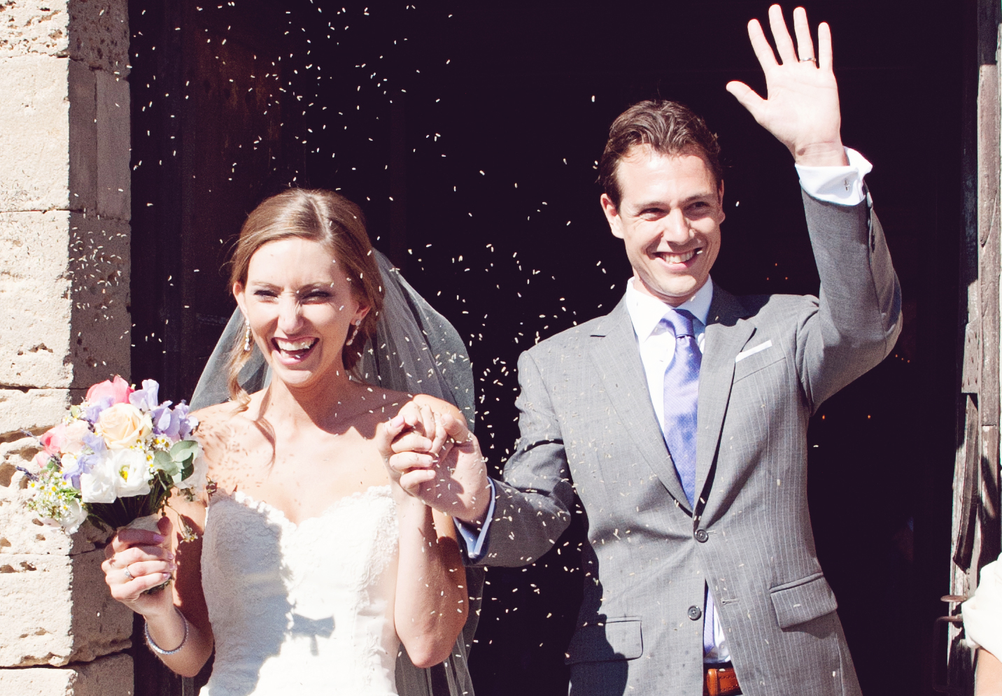 Lavender Shower — They're Married!