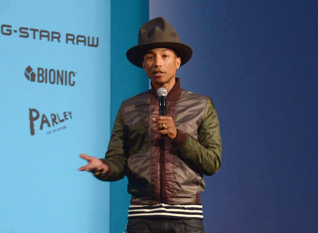 Pharrell and his hat made an appearance together in NYC.