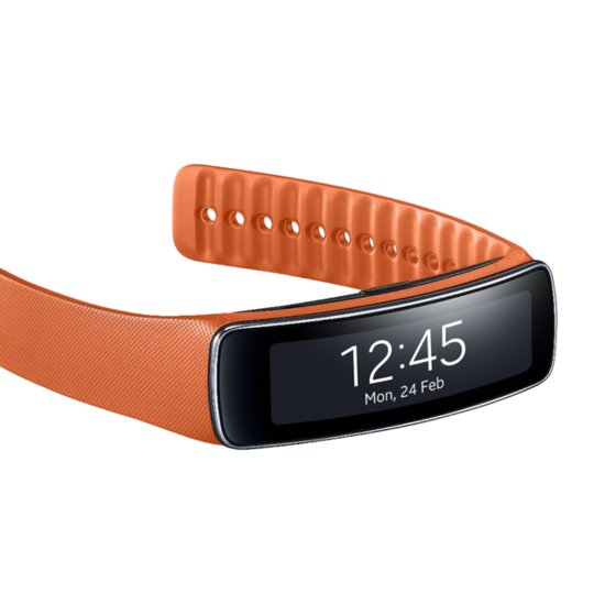 Samsung's Gear Fit Activity Tracker and Smartwatch