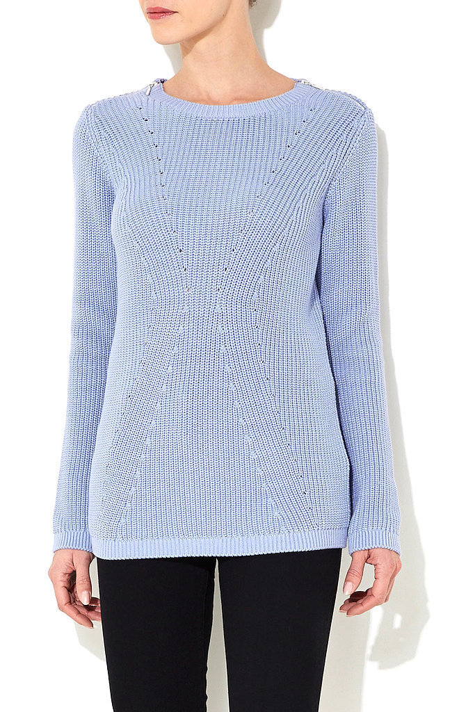 Wallis Blue Ribbed Sweater ($46, originally $58)