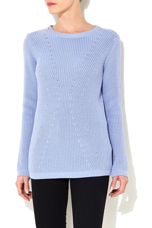 Wallis Blue Ribbed Sweater ($46, originally $58)