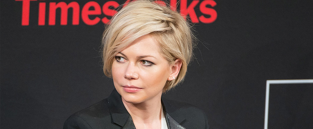 Michelle Williams Grown-Out Hair February 2014 | POPSUGAR Beauty