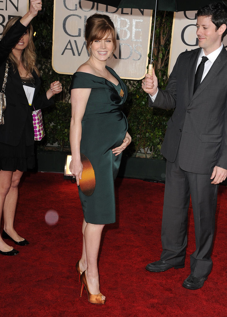 Darren Le Gallo adorably held an umbrella for Amy Adams on the Golden Globes red carpet in 2010.