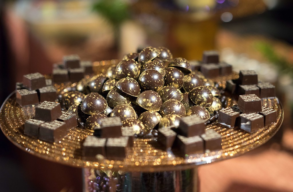 Gold-Dusted Chocolates