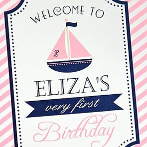 Girlie Nautical-Themed First Birthday Party