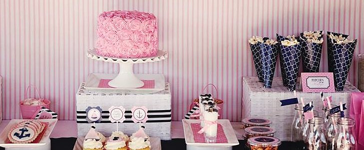 All Aboard! Adorable Preppy Pink Nautical Party