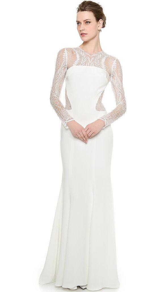 Monique Lhuillier Halle Long-Sleeve Sheath Gown ($3,990)