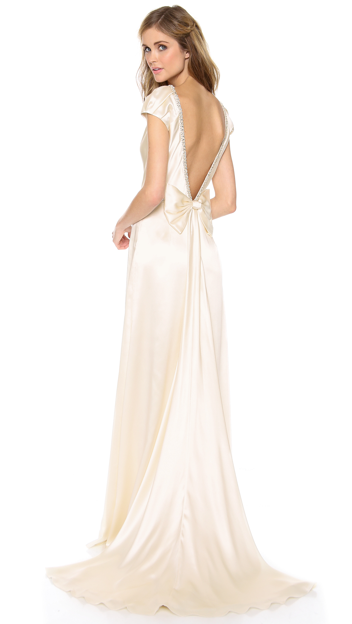 Collette Dinnigan Cap Sleeve Gown With Bow ($3,900)