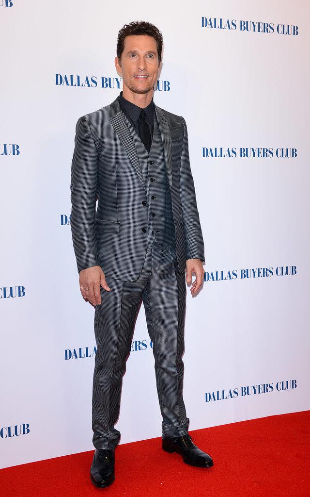 Matthew McConaughey at the Dallas Buyers Club UK Premiere