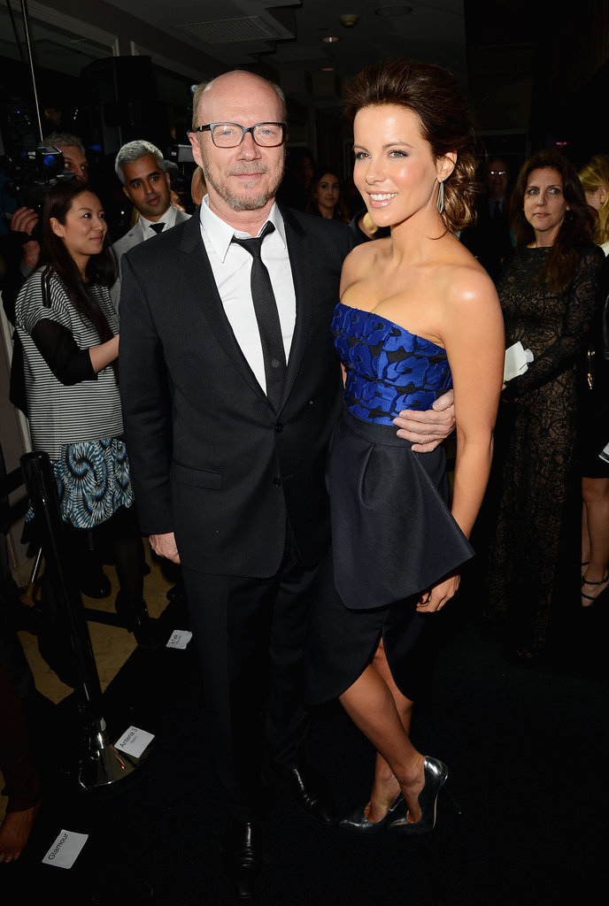 On Thursday, Kate Beckinsale and Paul Haggis attended the Hollywood Domino and Bovet 1822 gala in LA.