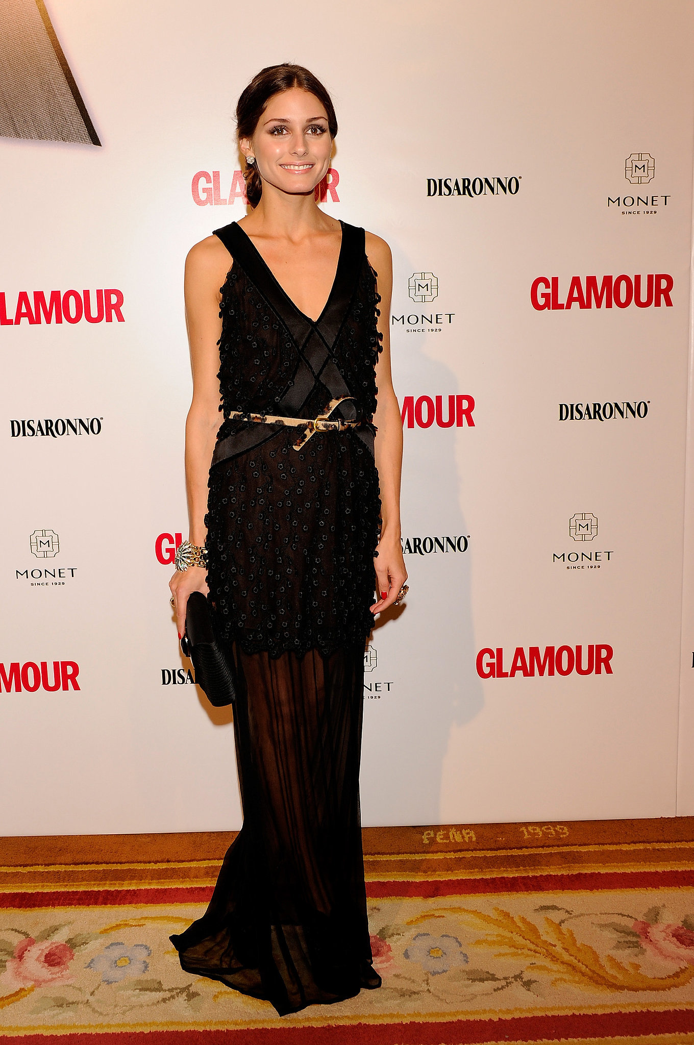 A sexy full-length sheer gown at the Top Glamour Awards in 2010.