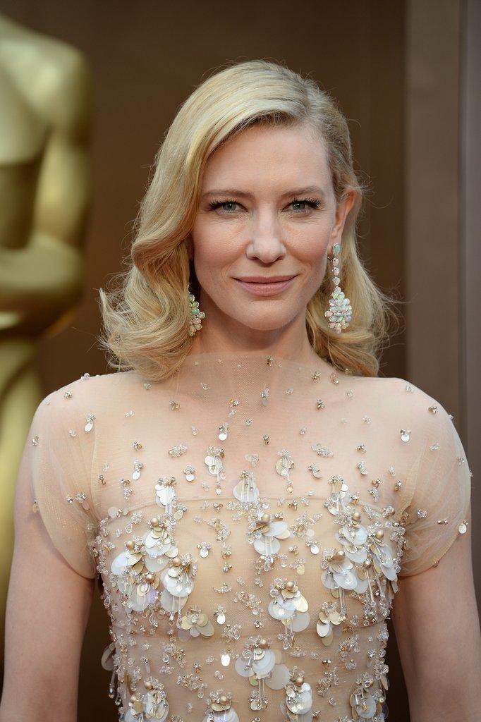 Cate Blanchett Wins Her Second Oscar Cate Blanchett Oscars 2014