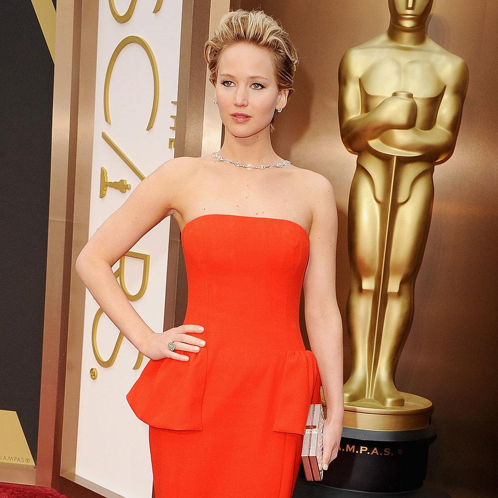 Jennifer Lawrence Dior Dress at Oscars 2014