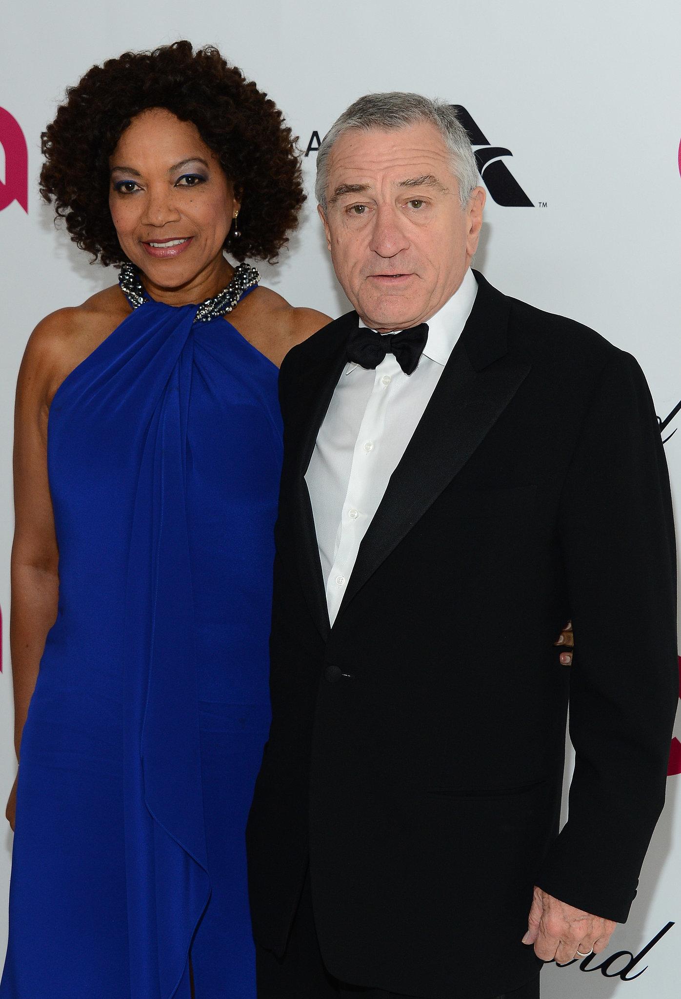 Robert De Niro and his wife, Grace Hightower, smiled.