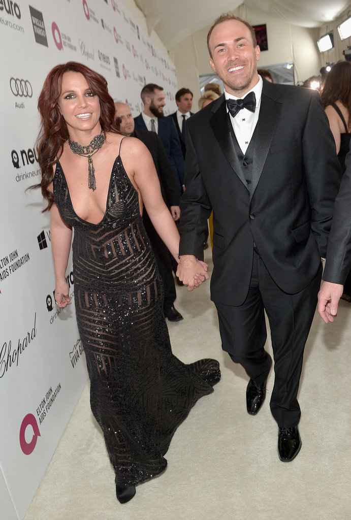 Britney Spears and her boyfriend, David Lucado, showed off PDA.