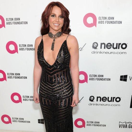 Britney Spears Dress at Elton John's Oscars Party 2014
