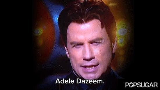 John Travolta's Idina Menzel Flub
