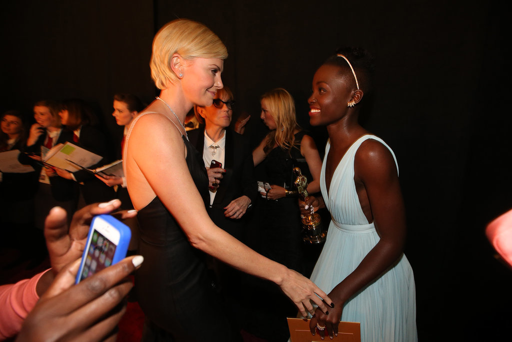 Lupita Nyong'o shared a sweet moment with Charlize Theron.