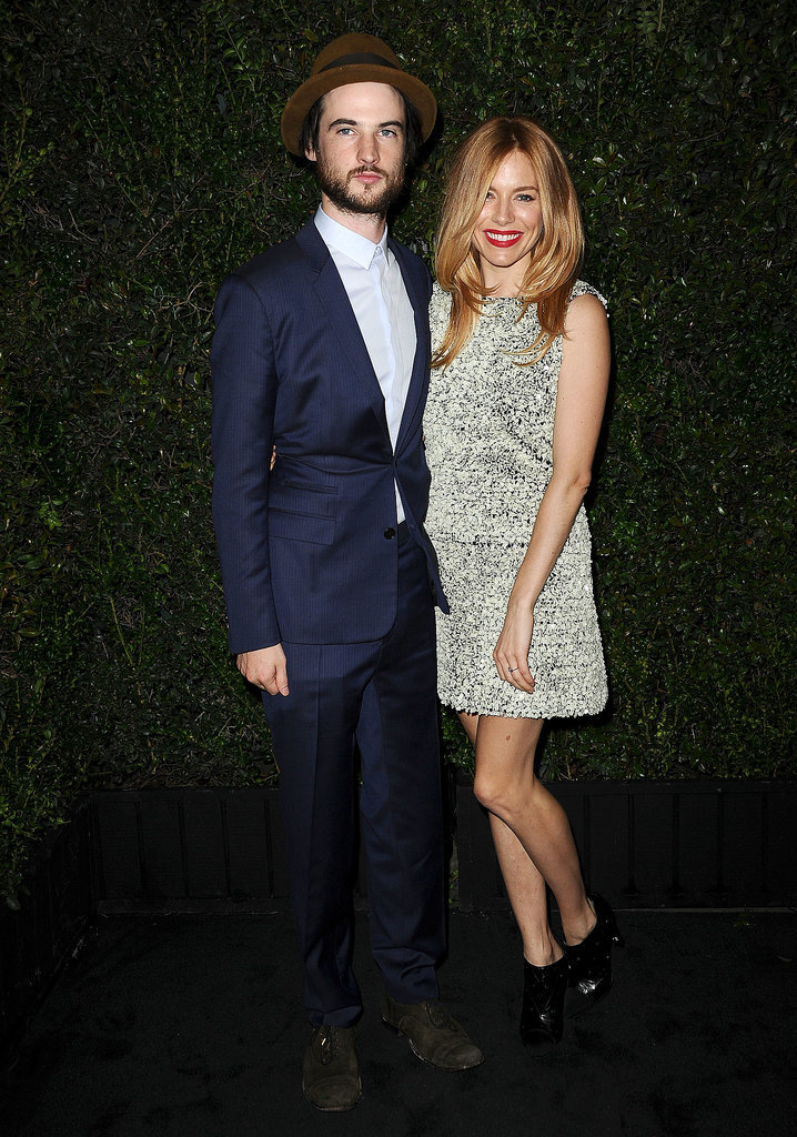 Tom Sturridge and Sienna Miller cozied up.