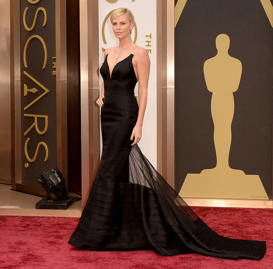 Charlize Theron on the Oscars 2014 Red Carpet
