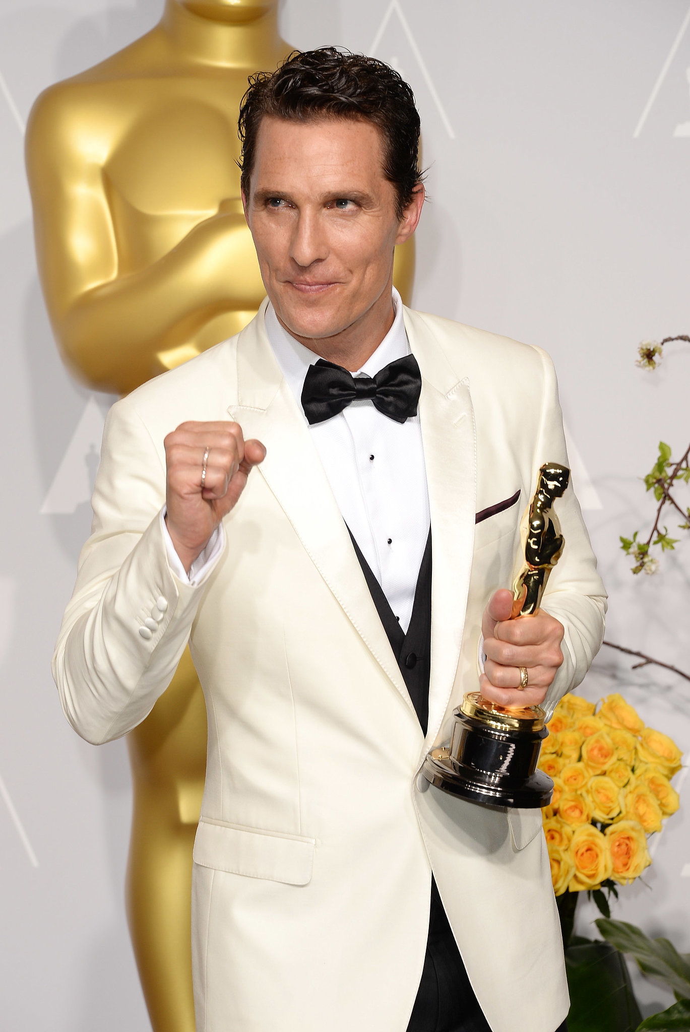 Matthew McConaughey looked dapper after his best actor win for Dallas Buyers Club.