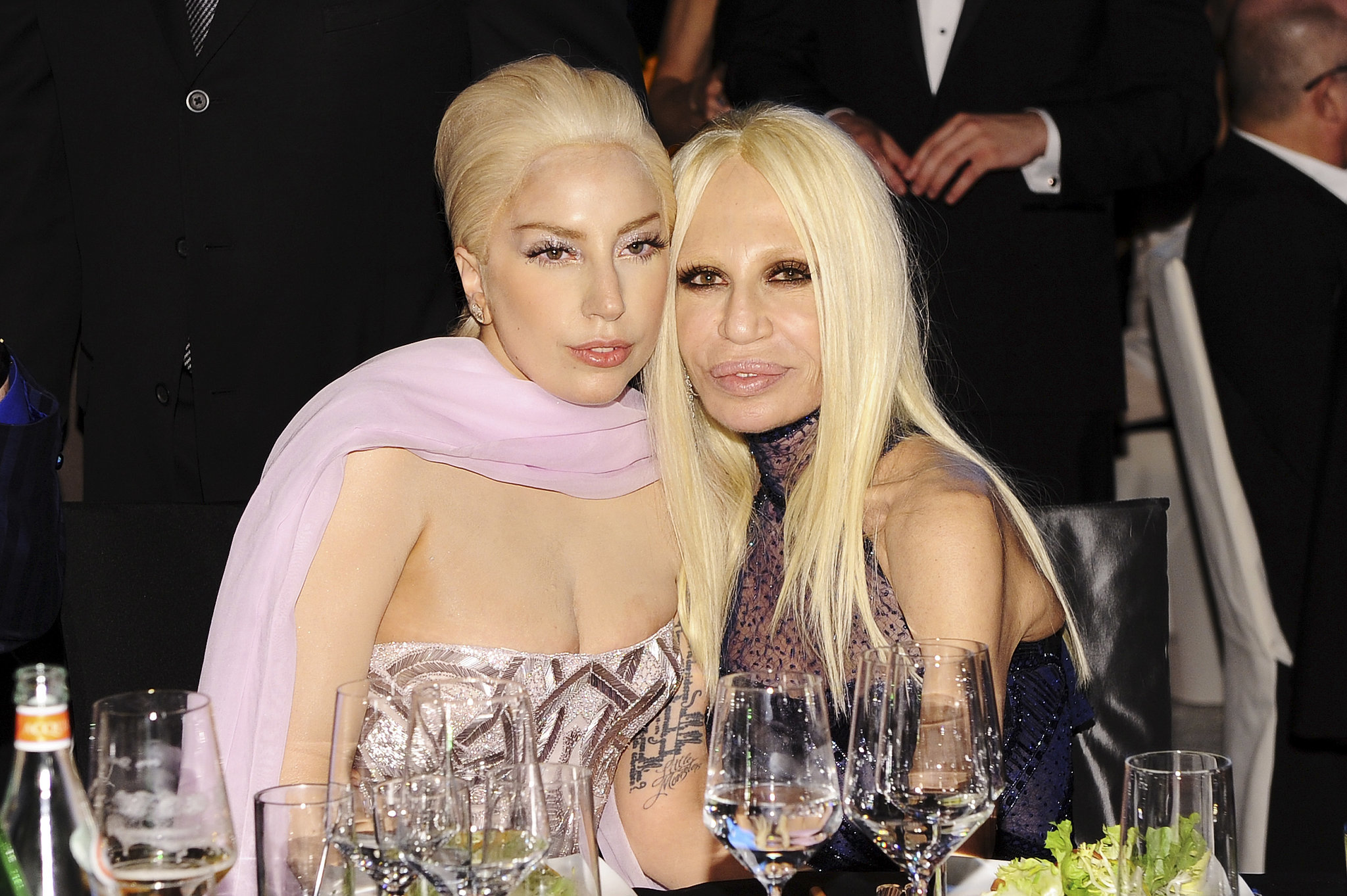 Photo of Donatella Versace & her friend  Lady Gaga