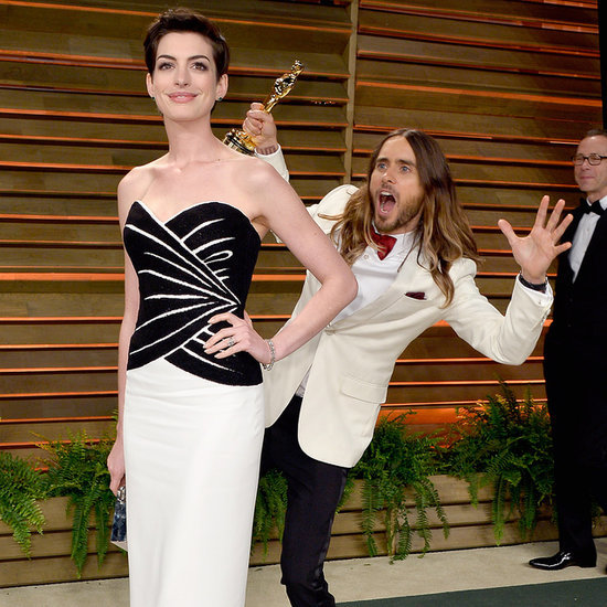 Jared Leto Photobombing Anne Hathaway After the Oscars