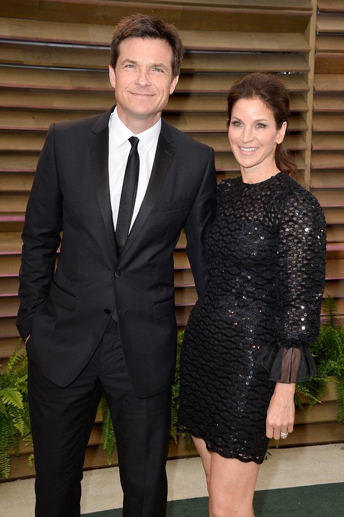 Jason Bateman and Amanda Anka made a gorgeous pair in black.