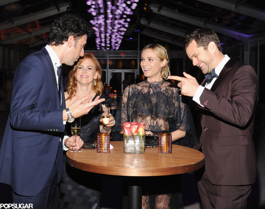 Sacha Baron Cohen and Isla Fisher chatted it up with Diane Kruger and Joshua Jackson.