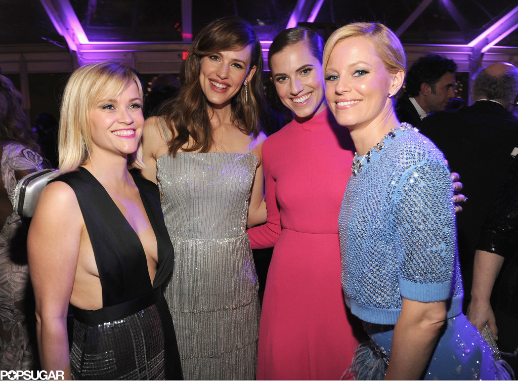 Reese Witherspoon, Jennifer Garner, Allison Williams, and Elizabeth Banks grouped up for a glamorous shot.