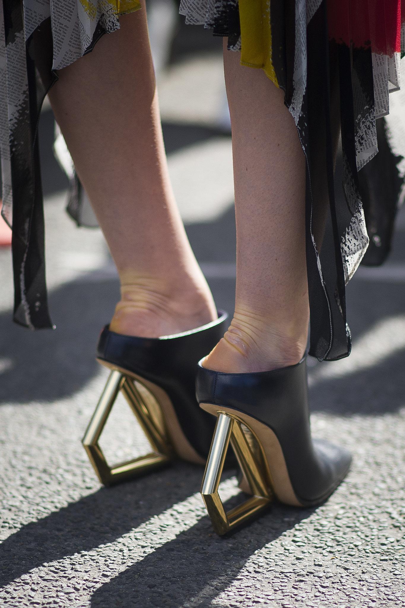 Celine Wooden Heeled Shoe