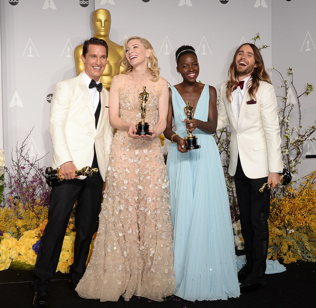 The press room was the place to be with winners Matthew McConaughey, Cate Blanchett, Lupita Nyong'o, and Jared Leto posing with their statues.
